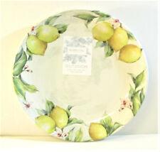 Set/ 8 Shabby Chic Melamine Dinner Plates Lemons - NEW