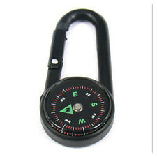 Multifunctional Smart Hiking Metal Carabiner Mini Compass Thermometer Keychain