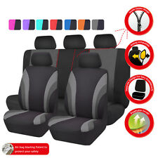 CARPASS 11PCS  black and grey color Automobile Universal fit car Seat Covers
