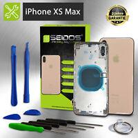 Backcover für iPhone XS MAX Gold Gehäuse Rückseite Rahmen Glas Frame Housing
