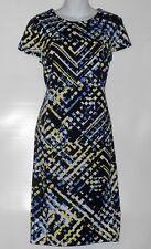 Covington Petite Cap Sleeve Fitted Bodice Sheath Dress Multi XLP NWT