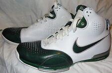 NIKE ZOOM BB UPTEMPO Shoes Green / White, LeBron ? Sz 12.5, 2007, Exc 316494 031