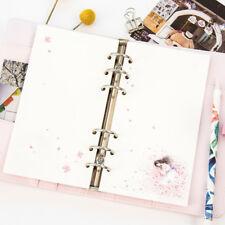 40sheets A5 Refills 6 Holes Spiral Notebook Inner Pages Loose Leaf Binder Paper