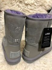 Women's classic short UGG - grey/purple - US 5 - CLEARANCE