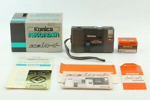 【N MINT in BOX】 Konica Recorder Black Half Frame Point & Shoot camera from JAPAN