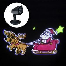 Outdoor LED Santa & Reindeer Sleigh Christmas Projector Light Set Xmas Home