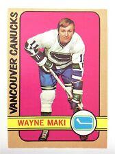 1972-73 Wayne Maki Vancouver Canucks 84 OPC O-Pee-Chee Hockey Card P096