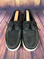 Sperry Top Sider Cup Collection Black Boat Shoes Mens 13M