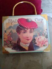New~ B. Blumenthal's genuine cigar box bag purse Gold Dollar Red Cap. VGC