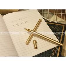 Brass Vintage Pen Handmade Gel Pen EDC Outdoor Gift Office School Stationery