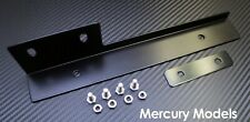 Black Front Bumper License Plate Relocator Bracket Holder JDM Bar for Mercury