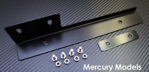 Black Front Bumper License Plate Relocator Bracket Holder JDM Bar for Mercury