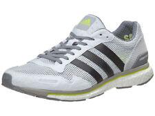 Men's Adidas adizero Adios 3 Running Shoes White / Grey / Yellow Sz 7 BB3313
