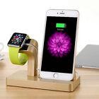 NUEVO carga y base de carga bambú Base Soporte Para iwatch iPhone 7