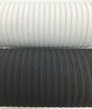 "10 YARDS | 1/4"" INCH 6MM BLACK OR WHITE ELASTIC 