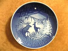 """Royal Copenhagen Collector Plate """"Christmas In The Woods"""" 1980 Artist Signed"""