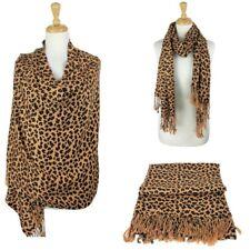 Fashion Leopard Print Pashmina shawl/Wrap/Scarf-Brown