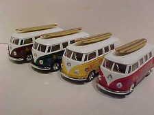 4 Pack of 1962 VW Van Volkswagen Bus Die-cast 1:32 Kinsmart 5inch Long Surfboard