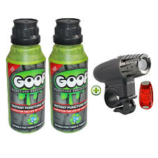 Goop Tyre Puncture Sealant / Puncture Repair 2 x 250ml + Lights Deal Made In UK