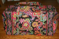 Vera Bradley LARGE DUFFEL BAG SYMPHONY IN HUE weekender travel tote NEW RARE