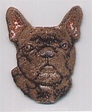 """1 1/2"""" x 2 1/8"""" French Bulldog Dog Breed Embroidery Patch"""