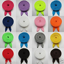 Flat Coloured Shoe Boot Trainer Shoe Laces Skate Football Trainer Shoelaces