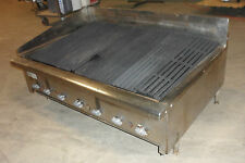 Heavy Duty Commercial Counter Top 36 Natural Gas Grill Charbroiler 7 Burners