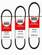 New Honda Civic OEM Bando Replacement Serpentine Drive Belt Set