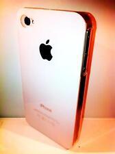 cover rigida Iphone 4 4S colore WHITE BIANCO  lato trasparente