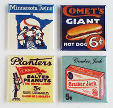 Minnesota Twins FRIDGE MAGNET Set (1.5 x 1.5 inches each) baseball hot dog sign
