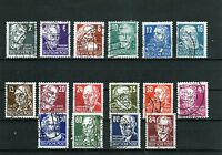 SBZ-Briefmarkensatz Berühmte Deutsche 1948 - Gestempelt