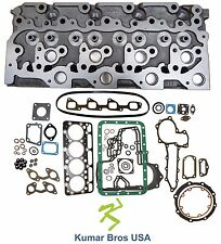 "New Kumar Bros USA BOBCAT T190 ""KUBOTA V2003"" BARE Cyl Head & Full Gasket Set"