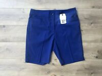New Women's EP Pro Stretch Tech Golf Shorts Batik Blue SZ US 8 ( 8130NAC ) $80!