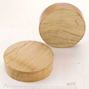 2 English Oak woodturning or wood carving bowl blanks.  180 x 50mm.   6295A