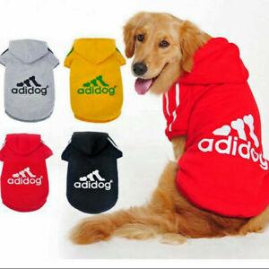 ADIDOG Hoodie Warm Winter Jumper Sweater Pet Cat Dog Fleece Clothing XS - 9XL