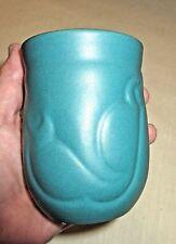 Gorgeous Vintage Art Deco Ceramic Vase - Teal - Zenith Gouda 423 - circa 1930's
