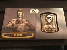 Star Wars Attack Of The Clones 3D Widevision  Bronze Medallion Card C-3PO 47/50