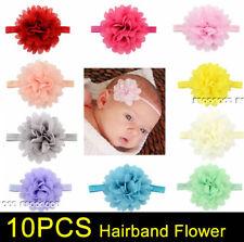10PCS Baby Girls Flower Hairband Soft Elastic Headband Hair Accessories Bands