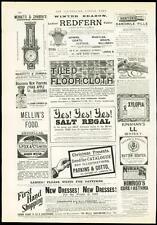 1889 antique print publicité beurre Scotch Parkins & GROTTE Kani Crabe (356)
