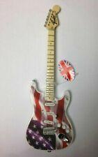 Bebé Hacha Stars N' Rayas, Miniatura Ornamental Guitarra Modelo