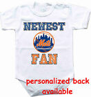 Baby bodysuit Newest fan New York Mets NY baseball One Piece jersey personalized