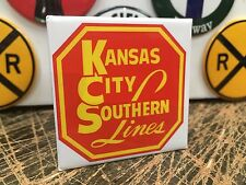 classic KANSAS CITY SOUTHERN LINES RAILROAD full backed refrigerator MAGNET