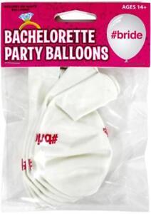 2 Bachelorette #Bride Balloons 6pks Engagement Novelty Decoration Bridal Decor