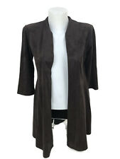 Joseph Ribkoff Brown Open Front Cover Up Open Cardigan Sz 4 UK 6 New 163362