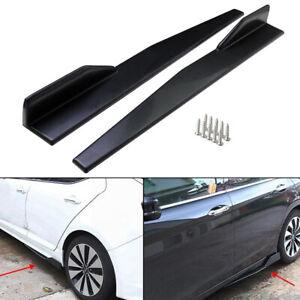 """2x 34"""" Universal Car Side Skirt Splitters Winglet Wings Anti-Scratch Protector"""