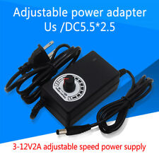 Universal 3-12V Power Supply DIY Motor Speed Control LED Dimmer AC/DC Adapter ZB