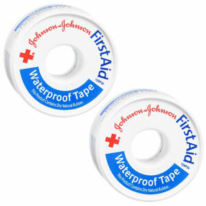 2 Pack JOHNSON & JOHNSON Red Cross First Aid Waterproof Tape 1 Inch X 10 Yards