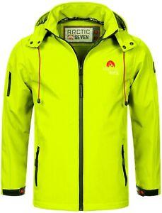Arctic Seven Herren Softshell Funktions Outdoor Regen Jacke Neongelb L R633