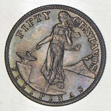 SILVER - WORLD Coin - 1945 Philippines 50 Centavos - World Silver Coin *483
