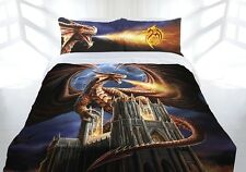 Anne Stokes Dragons Fury Fantasy Gothic King Size Quilt Doona Cover Set